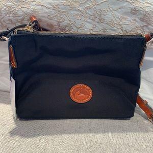 Dooney & Burke Black Nylon Crossbody Bag